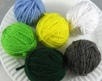 Yarn Remnants, Yarn Destash, Yarn Balls, Yarn Leftovers Total 150 Yards