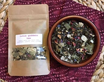 LOTUS GODDESS Ceremonial Herbal Green Tea Blend One Ounce