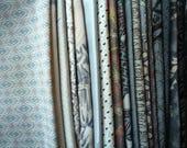 Mixed Silk Remnant Most Silk Kimono Fabric Scraps, Craft Supply, Handmade Supply Silk Asian Textile Gray Set