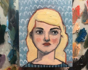 Oil painting portrait - Bethany - Original art