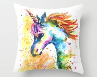 Unicorn pillow unicorn cushion unicorn pillow case unicorn bedding unicorn bedroom pillow shop unicorn nursery pillow shop Unicorn Decor