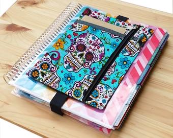 Turquoise sugar skulls planner band  Happy Erin Condren Life  Plum Paper planner
