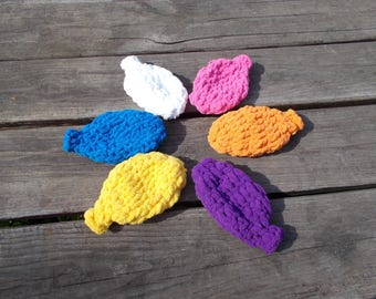 CLEARANCE Water Bolloons, Go Green, Reusable, Set of 6, Brights, LARGE Size, Outdoor Game, Crocheted Super Soft, Water Game, Summer Fun