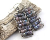 Mystic Labradorite Mosaic Earrings