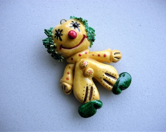 Too Cute Vintage Dough Clown Ornament