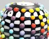 Pop Dot Big Ball Plus!   --Handmade Lampwork Bead