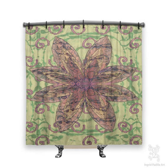 Hippie Chic, Shower Curtain, Shower curtains, boho shower curtain, Bohemian shower curtain, cloth shower curtain, Boho Decor, Hippie decor