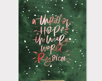 christmas print / 8x10 / a thrill of hope