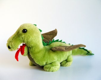 Vintage Dragon Stuffed Animal R Dakin 1980s Toy