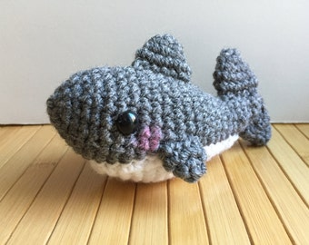 Great White Shark Amigurumi Doll with Ornament Option