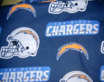MadieBs Chargers NFL Crib or Toddler Bed Skirt