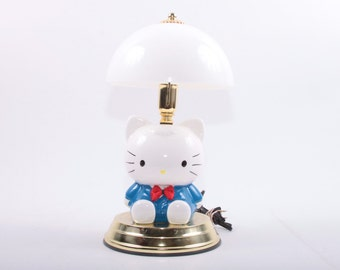 Vintage, Ceraimc, Hello Kitty Lamp, 1980s, 80s, Ceramic, Plastic, Brass, Light ~ The Pink Room ~ 161119