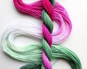 """Size 10 """"Candy Mint"""" hand dyed thread 6 cord cordonnet tatting crochet cotton"""