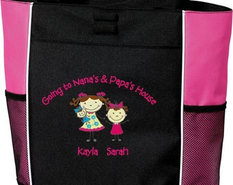 Going to Grandma and Grandpas House Nana Papa Personalized Embroidered Sisters Brothers