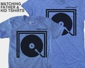 SALE! Dad Son Matching Listen Round Shirt   Father Daughter Matching   Dad Baby Matching Shirt   Music DJ Gift   New Dad Gift   Gift for Dad