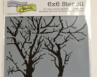TREE BRANCHES Reversed  TCW  6 x 6 Stencil