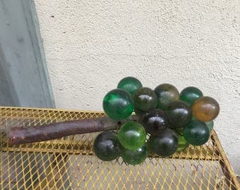 Green Vintage Lucite Grapes   Free Shipping