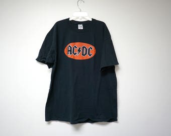 AC/DC black cotton shirt . xl