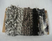 Black Gray Novelty Yarn Scraps Weaving Scrapbooking Supplies 1496