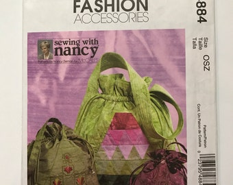 McCall's Pattern M4884 Drawstring bags designed by Sewing with Nancy