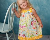 SALE Square Neckline Dress and Top pattern, sewing pattern for girls