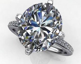 Private Listing for Lou - victoria ring - 5.8 carat oval NEO moissanite engagement ring, payment 1 of 3
