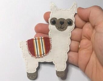 Alpaca Applique, Alpaca Patch, Fabric Alpaca, Llama, Alpaca Embellishment,Llama Patch, Llama Alpaca, Alpaca, Handmade Fabric Patch