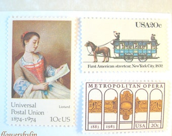 NYC - New Orleans Stamps 2018 rate 50c, Met Opera - Streetcar - Louisiana Nature - Victorian Lady Stamps, Mail 10 Cards Letters RSVPs 1 oz