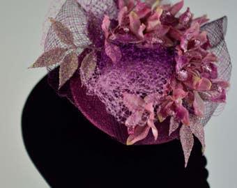 Pink and Violet Floral Fascinator