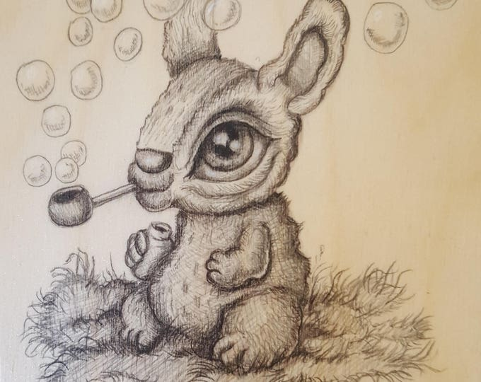 Bubble Bunny - Original drawing by Mr. Hooper of Nashville, Tennessee