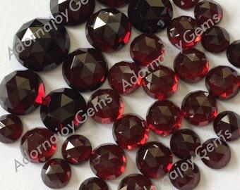 Gemstone Cabochon Garnet 5mm Rose Cut FOR FOUR