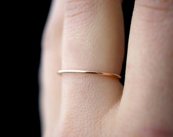 Medium Thick Rose Gold stacking ring, rose gold ring, textured, 14k rose gold fill ring, rose gold stack ring, rose gold ring, delicate ring
