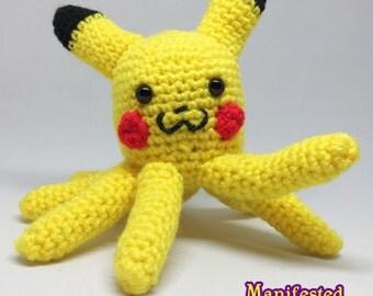 Pikachu Octopus Plush Amigurumi Crochet Octobloop Pikabloop Parody