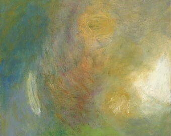 Shimmer - Original Signed Abstract Painting, Acrylics on Canvas, 24 x 24 inches by 1-1/2 inch deep