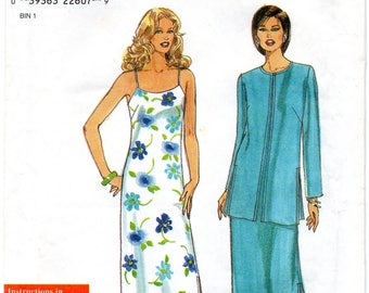 Simplicity 8562 Misses Dress & Jacket Uncut Pattern Size 6-16 Copyright 1999