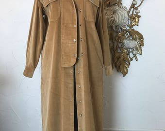 Ralph Lauren duster vintage jacket corduroy jacket dress coat size medium sample sale corduroy duster