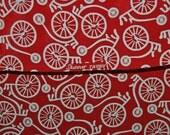 Vintage dressmaking fabric BICYCLE rayon by Skinner