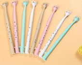 Cat Pens, Set of 4 Colorful Cat Pens, Cute Cat Faces, Fine Tip Black Ink Pens Kawaii Cat Pens in Pastel Colors, 4 Stationery Pens Cat Lovers