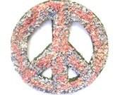 Pink Blue Larkspur Dried Flower Peace Sign Wreath