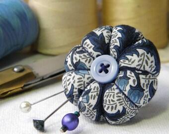 Blue Fern Pincushion Ring