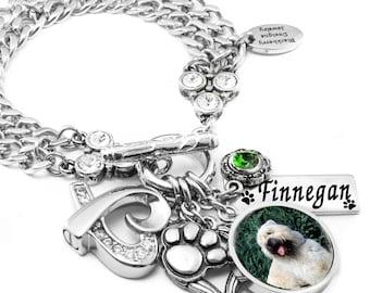 Memorial Pet Bracelet, Cremation Urn Bracelet, Pet Memorial, Memorial Pet Jewelry, Personalized Memorial Pet Jewelry