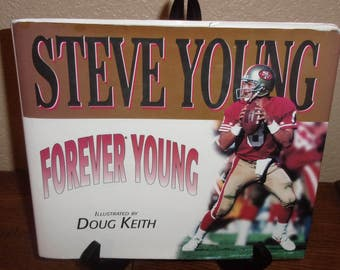 Forever Young-Steve Young-Hardcover Book-1st Ed/1st Print 1996-Signed by Young