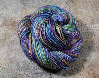"""Shiny Happy-superwash Merino-Silk yarn- """"The Big O""""  3.5 oz (100 grams) 435 yards"""