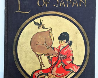 Little Children of Japan Beautifully Illlustrated 1920s Storybook My Travelship Series