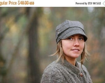 SALE Womens Hat Mamie hat  Wool Blend Winter Hat Gifts For Her Tweed Newsboy Cap