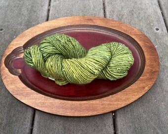 Terra The Fibre Company - Green Olive Leaf baby alpaca wool silk 1 skein yarn