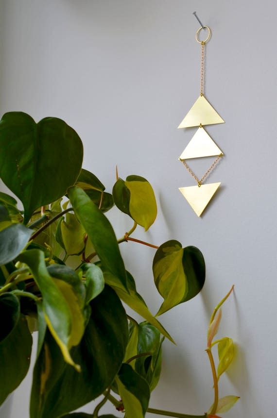 Brass wall hanging -  handmade wall décor -