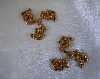 Vintage Brass Flower Bead Cap Stamping