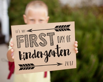 First Day of School signs for 2017 first day pictures, grades K - 12 printable signs, includes 2018 last day signs, instant download
