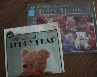 2 Vintage Patterns for Teddy Bears.